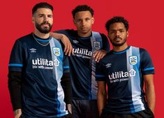 Jd Sports, Sports Shops, Huddersfield Town, Football Kits, White Letters, Navy Color, White Trim, Blue And White, Soccer Kits