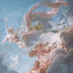The Chariot of Venus, century by Francois Boucher - Buy The Chariot of Venus, century Paper Art Print - Isabella Stewart Gardner Museum - Custom Prints and Framing Angel Aesthetic, Blue Aesthetic, Renaissance Paintings, Renaissance Art, Art Inspo, Art Bizarre, Aphrodite Aesthetic, Aesthetic Painting, Art Hoe
