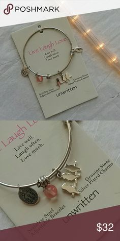 Live Laugh Love bracelet NWT Unwritten sweet adjustable charm bracelet;)) Macy's Jewelry Bracelets