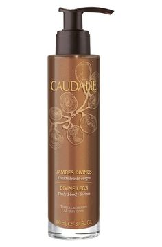 Like bronzer for your legs! Lotion gives skin an instant glow that lasts all day.