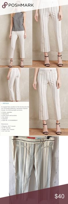 "Anthropologie Charlie Crop Flare Pants Waist 16"" inseam 23"" Anthropologie Pants Ankle & Cropped"