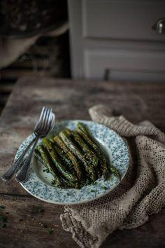 Asperges vertes Chambord rôties / Roasted green asparagus