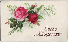 cacao driessen roses and lily of the valley spray Tree Tat, Rose Lily, Decoupage Vintage, Retro Art, Lily Of The Valley, Rose Design, Vintage Roses, Rose Tattoos, Vintage Cards