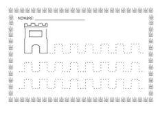 ESOS LOCOS BAJITOS DE INFANTIL: MAS FICHAS DEL PROYECTO LOS CASTILLOS Pencil Grip, Château Fort, Head Start, Fine Motor, Worksheets, Activities For Kids, Homeschool, Education, Knights