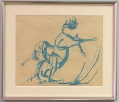 Original Pastel Drawing on Paper, Attributed Edward Borein (1872-1945). Available for purchase at http://treasuredestates.com/showroom/product/151-pastel-drawing-on-paper-by-edward-borein