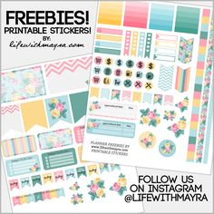 Free Floral Printable Planner Stickers | Life with Mayra
