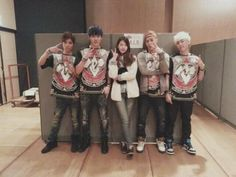 M.I.B meet up with long-time fan, model Kim Jin Kyung