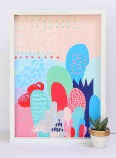 Cloud Nine Creative - Pink Magical Forest Print - A3