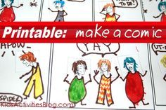 Make a comic with this free printable which is perfect for an easy and fun story writing activity!