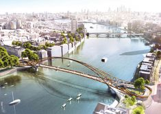 """Gallery of 74 """"Wild Designs"""" Considered for New Thames Pedestrian and Cycle Bridge - 1"""