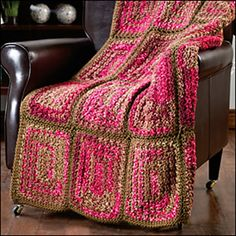 Greek Squares Afghan