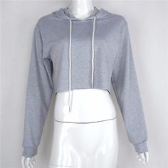 Gender: Women Item Type: Hoodies,Sweatshirts Clothing Length: Short Fabric Type: Knitted Hooded: Yes Collar: O-Neck Sleeve Length: Full Pattern Type: Solid Sleeve Style: Regular Style: Fashion Type: P
