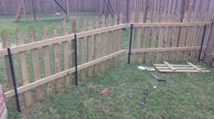 Picture of Creating the temporary fence part 2