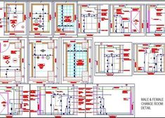 Toilet Plumbing Detail with Pipes and fittings - Autocad DWG Office Interior Design, Office Interiors, Pool Changing Rooms, Pvc Pipe Fittings, Clubhouse Design, Powder Room Design, Working Drawing, Floor Layout, Club Design