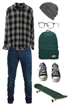 """like i said, i'm plotting my nanowrimo so there'll be an increase in men's sets"" by lackingingrace ❤ liked on Polyvore featuring SELECTED, Rails, Converse, Outdoor Research, Ray-Ban, men's fashion and menswear"