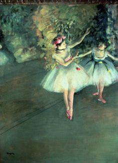 ドガ 「ステージの上の踊り子たち」 1874 |61.5x46 cm |コートールド・ギャラリー、ロンドン