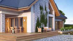 Stonemaster on Behance Architecture Plan, Home Fashion, House Plans, Backyard, Layout, Exterior, House Design, Stone, House Styles