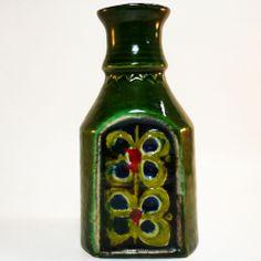 West German Pottery Fat Lava Vase • Schramberg Majolika  • 70s • Mid Century