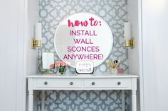 When I first started thinking about our closet organization and updating my vanity , I began looking at plug-in wall sconces that I could af...