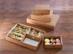 Planglow | NAT015 - Natural Small Platter Box | Eco Packaging | Buffet Packaging | Rustic | Grab & Go