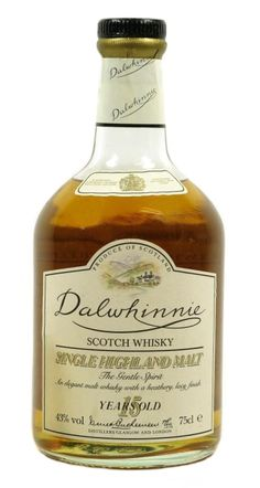 Dalwhinnie 15 yo Single Highland Malt whisky - official bottling from late Bourbon Cocktails, Whiskey Drinks, Vodka Drinks, Scotch Whiskey, Wine Drinks, Alcoholic Drinks, Beverages, Whiskey Sour, Irish Whiskey