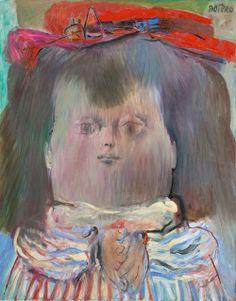 Fernando Botero (colombien, né en 1932) Mona Lisa Age Nine 1960 Huile sur toile.  119,5 × 94 cm