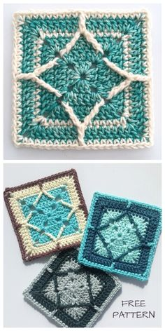 Crochet blanket patterns free 33636328453844005 - Northern Diamond Square Free Crochet Pattern + Video Source by ladylawy Point Granny Au Crochet, Crochet Squares Afghan, Crochet Motifs, Crochet Blocks, Granny Square Crochet Pattern, Afghan Crochet Patterns, Crochet Stitches, Boho Crochet, Crochet Crafts