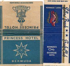 Beach vintage matchbook covers | ... Older Bermuda Hotel Matchbook Covers - Store Item# BEACHGUY612