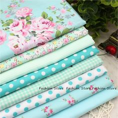 8 PCS 40 cm x 50 cm conjunto Victoria flor Impresso tecido de algodão para a roupa de cama quilting patchwork tecido tela tissus
