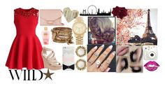 """""""meet me in Paris my love"""" by cutieeeeee248 ❤ liked on Polyvore featuring Chicwish, Wet Seal, Victoria Beckham, Fay et Fille, Kendra Scott, Michael Kors, ALDO, Kate Spade, Victoria's Secret and Oliver Gal Artist Co."""