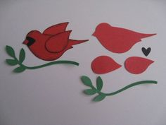 photo tutorial ... SU Bird punch CARDINAL ... quick and easy ... great look ... Stampin' Up!