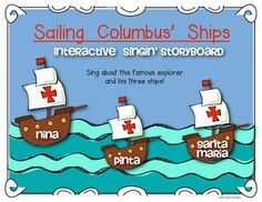 Columbus Day {Interactive Singin' Storyboard} for Kindergarten and First Grade. $