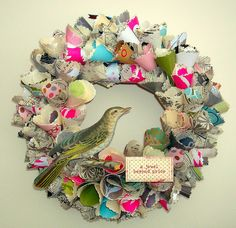 dog inspired craft | Vintage Inspired Paper Wreaths » Photo 5