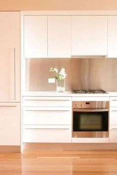 Our Matte Polyester White cabinet doors have a smooth, satin-like feel to them with the ideal finish that will help to diffuse bright lights in the room. #27estore #homedecor  #homeremodel #homeinspo #homeideas #remodel  #wallpanels