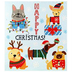 Buy Woodmansterne Flittered Dogs Charity Christmas Cards, Pack of 5 Online at johnlewis.com