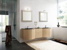 Luxurious Contemporary Bathroom Design Ideas With Grey Floor Cream Rug white Wall Glass Window Wooden Cabinet Modern Bathroom Design, Bathroom Wall Art, Bathroom Vanity, Elegant Bathroom, Contemporary Bathrooms, Amazing Bathrooms, Contemporary Bathroom Designs, Bathroom Design, Bathroom Decor