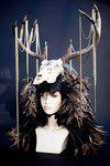 Antler Headdress. Aviator & Tire Base.  Feathers for days.  Made for Zen Arts created by Adam Tenenbaum
