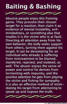 ABUSE - THE METHODS & TACTICS OF ABUSERS & WHY/HOW AND WHAT THE OUTCOME & AIMS OF THIS BEHAVIOR IS USED FOR