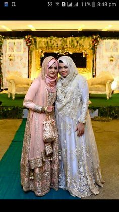Muslimah Wedding Dress, Groom Wedding Dress, Muslim Wedding Dresses, Muslim Brides, Pakistani Bridal Dresses, Pakistani Dress Design, Hijab Bride, Bollywood Style Dress, Bridal Hijab Styles