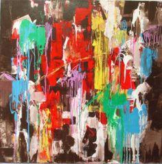 "Saatchi Art Artist lara savushkina; Painting, ""Flower Power"" #art"
