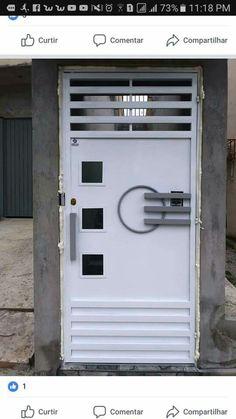 Gate Wall Design, Front Gate Design, House Gate Design, Main Gate Design, Entrance Design, Home Window Grill Design, Grill Door Design, Grille Metal, Wrought Iron Gate Designs