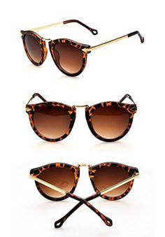 FUNOC-Retro-Vintage-Fashion-Unisex-Round-Arrow-Style-Metal-Frame-Sunglasses-Eyewear-0-3