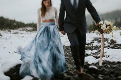 3aacdf3fffd 25 Dreamy Blue Wedding Dresses That Stand Out In A Sea Of White