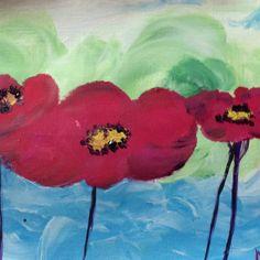 Poppies. Original acrylic painting