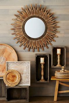 The decorative frame of Pier 1's honey-stained Wood Sunburst Mirror radiates warmth and good taste. Hang it in a room that needs a little sunshine, and bask in its beauty.
