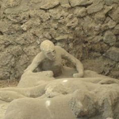Pompeii. Frozen in time, a last struggle for survival.