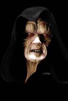 Darth Sidious [Star Wars] by Alexandre SalleS Star Wars Sith, Clone Wars, Star Trek, Harrison Ford, Use The Force Luke, Dibujos Dark, Science Fiction, Star Wars Episode Iv, Star Wars Fan Art