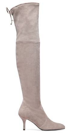 Tiemodel by Stuart Weitzman. These over-the-knee boots were inspired by the iconic HIGHLAND thigh-highs and were designed to flatter the contours ...