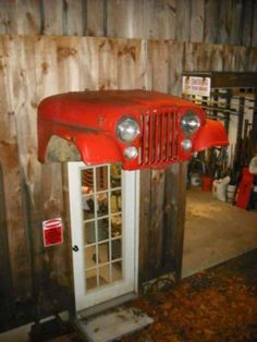 Awning on a Jeep Shop, could do this for the Bug Ranch with VW!!