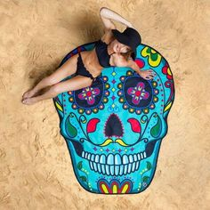 """Cutest beach towels ever! This is a pre-order with mid April delivery. These adorable beach blankets have a 60"""" diameter. These adorable towels will make for an"""